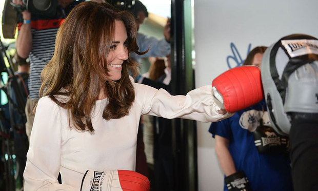 Kate Middleton was a knock-out at the launch of the Heads Together campaign, where she tested out her boxing skills.