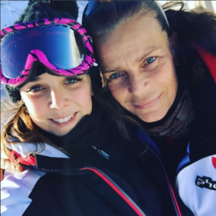 Pauline Ducruet was on top of the world with her best girl, her mama, Princess Stephanie of Monaco while hitting the slopes in France. 