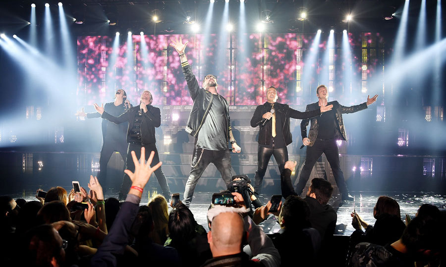 The Backstreet Boys treated guests at Caesars Palace to a <i>larger than life</i> performance, which included their iconic songs <i>Everybody</i> and <i>I Want It That Way</i>.