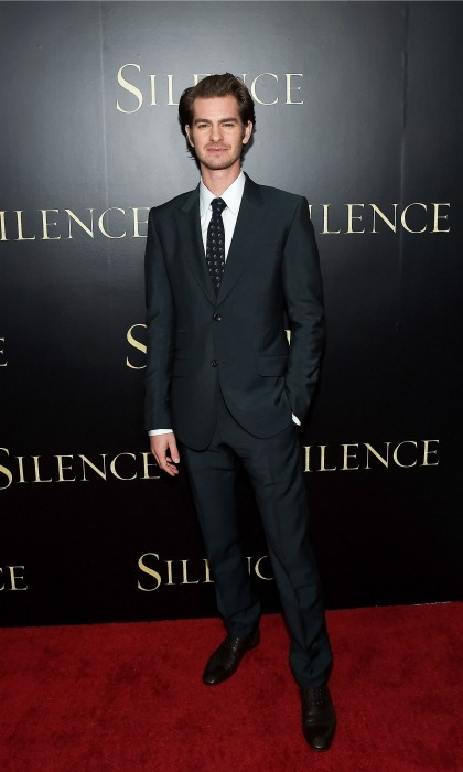January 5: Andrew Garfield looked handsome in a dark suit during the premiere of <i>Silence</i> in L.A. 