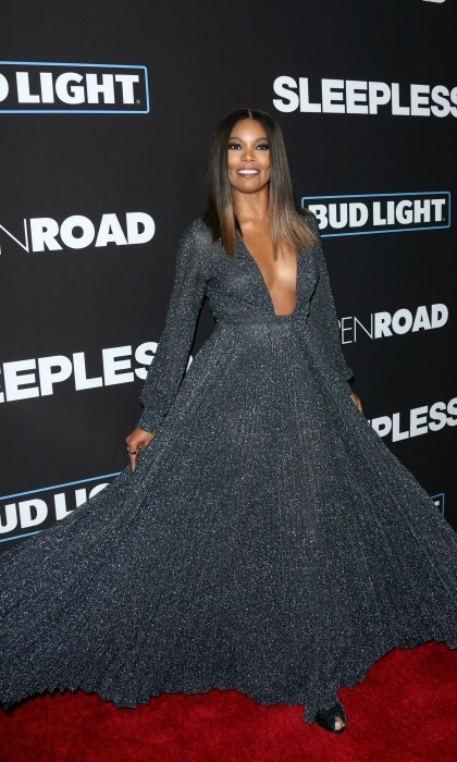 January 5: Twirl! Gabrielle Union twirled her way around the red carpet in a stunning dress by Thakoon during the premiere of <i>Sleepless</i> in L.A. 