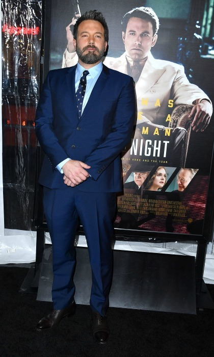 January 9: Like a boss! Director Ben Affleck looked sharp in a blue suit at the Hollywood premiere of his new drama film, <i>Live by Night</i>.