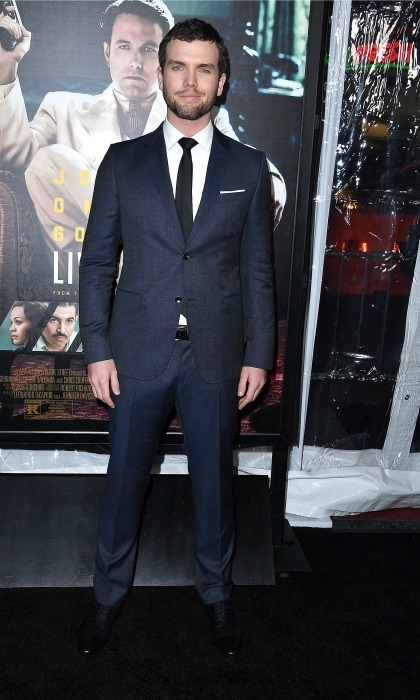 January 9: Taylor Swift's younger brother, Austin Swift, looked dapper in a navy Gucci suit at the Hollywood premiere of his new Ben Affleck-directed film, <i>Live by Night</i>.