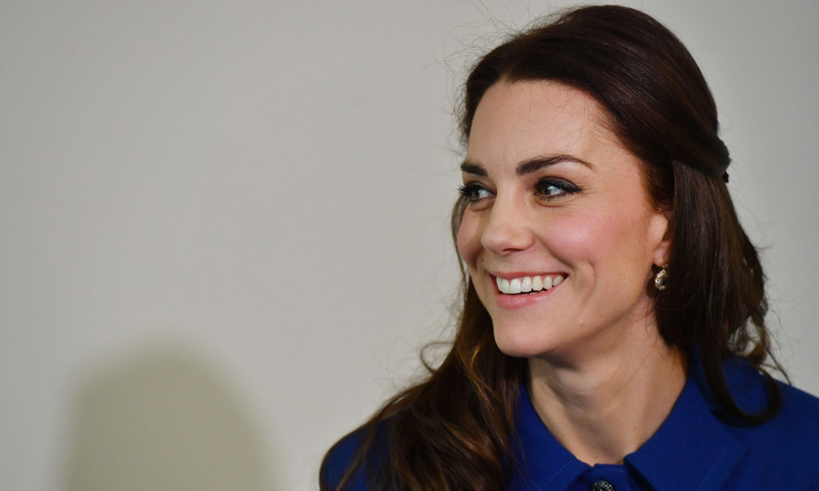 Kate looked lovely and had a sympathetic ear for all she met during the moving engagement.