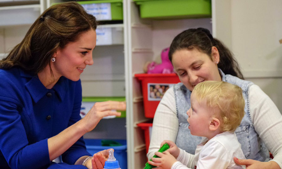 The stylish royal showed off her maternal side playing with a baby at the Early Years Parenting Unit. The unit aims to keep families together and help parents become more responsive to their children's needs.