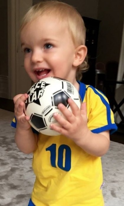 Watch out David Beckham! Prince Nicolas showed off his soccer talents in August 2016.