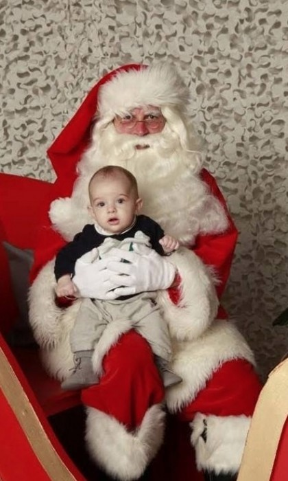 Prince Nicolas' first meeting with Santa went off without a hitch in December 2015.