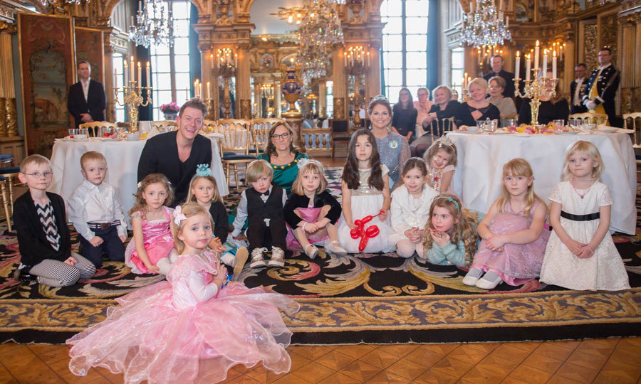 "The little Princess and her mom opened the palace doors for a fairy-tale tea party with young children. Madeleine invited the children into her home in her role as patron of ""Min Stora Dag"", which translates as ""My Big Day"". The charity supports children with serious illnesses by granting them a wish.