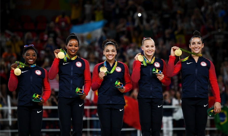 Simone and Aly competed in the 2016 Olympic games in Rio with fellow Team USA gymnasts Gabby Douglas, Laurie Hernandez and Madison Kocian. 