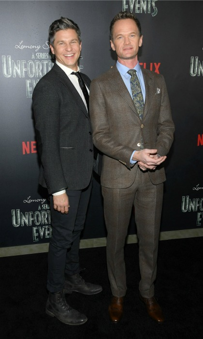 January 11: Neil Patrick Harris and David Burtka were a handsome pair during Netflix's presents, Lemony Snicket's <i>A Series of Unfortunate Events</i> screening in NYC. 