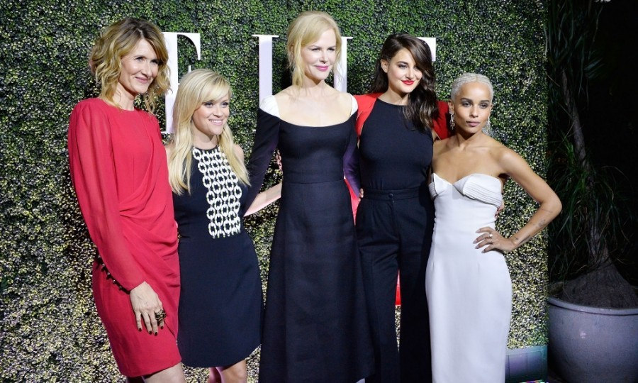 January 14: <i>Big Little Lies</i> cast photo! Laura Dern, Reese Witherspoon, Nicole Kidman, Shailene Woodley and Zoe Kravitz looked stunning on the carpet at ELLE's Annual Women In Television Celebration 2017. The event took place at Chateau Marmont in Los Angeles. 