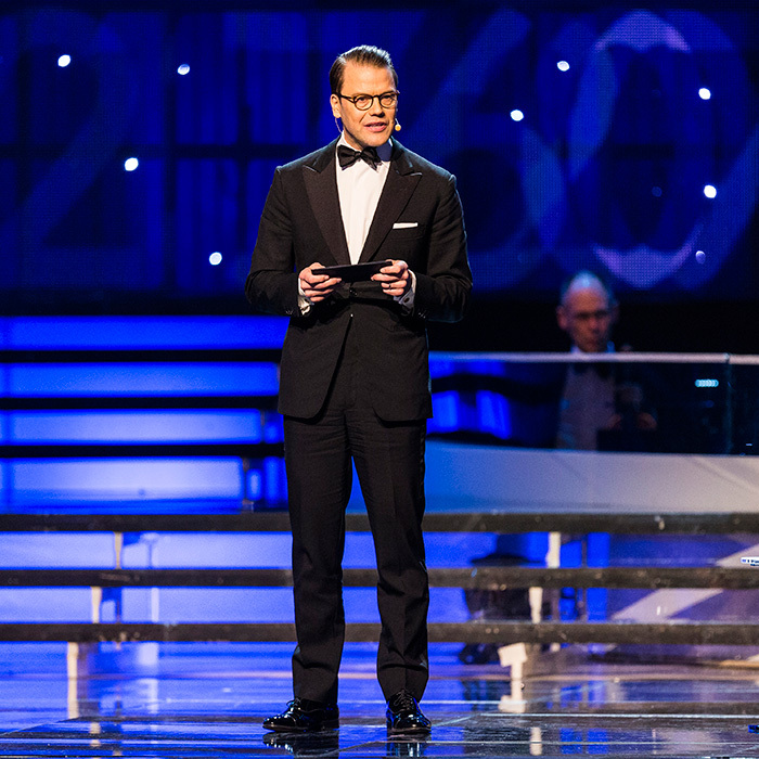Prince Daniel of Sweden stepped center stage to present the Gen-Pep prize during the 2017 Sweden Sports Gala held at the Ericsson Globe Arena on January 16 in Stockholm.
