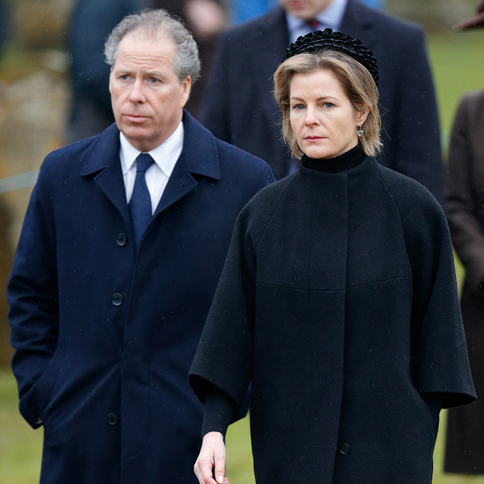 Having just lost his father – famed photographer and ex-husband of Princess Margaret, the Earl of Snowdon, who died January 13 at age 86 – David, 2nd Earl of Snowdon and his wife Serena, Countess of Snowdon joined Queen Elizabeth for church services on January 15 in Flitcham, England. 