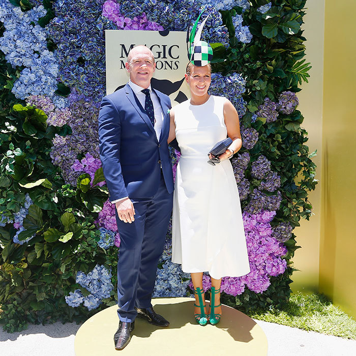 Queen Elizabeth's granddaughter Zara Tindall and her husband Mike Tindall turned out in style for the Magic Millions Raceday on January 14 in Gold Coast, Australia. 