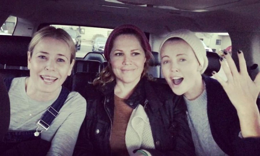 """I'm here with two of my besties!"" Chelsea Handler said in a short video she posted to her Instagram with Mary McCormack and Charlize Theron. ""There's a movement happening - get with it!"" the comic went on to say. The stars participated in the women's march at Sundance in Park City, Utah.