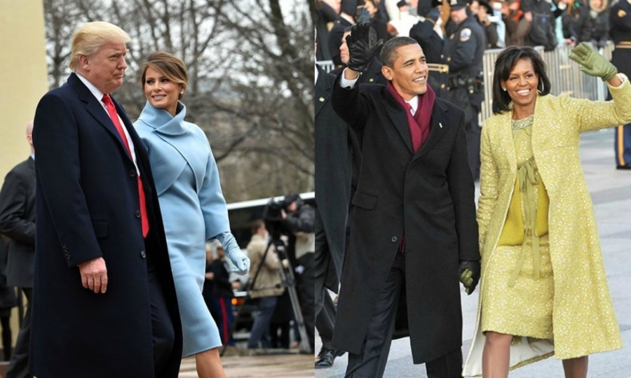 Melania Trump and Michelle Obama: How their inauguration style compares