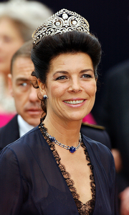 Princess Caroline attended Crown Prince Frederik and Crown Princess Mary of Denmark's May 2004 wedding wearing a stunning tiara. 