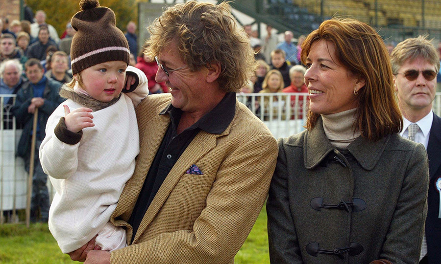 The Princess with now-estranged husband Prince Ernst of Hanover and their daughter Princess Alexandra in 2003 in Paris, France.