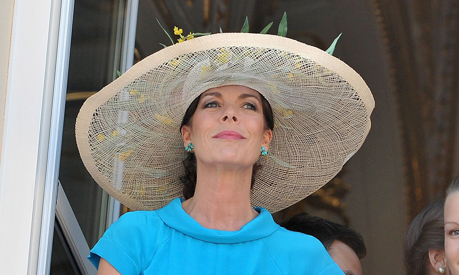Princess Caroline gazed out of the Palace window after the civil wedding ceremony of her brother Prince Albert and Princess Charlene in July 2011. 