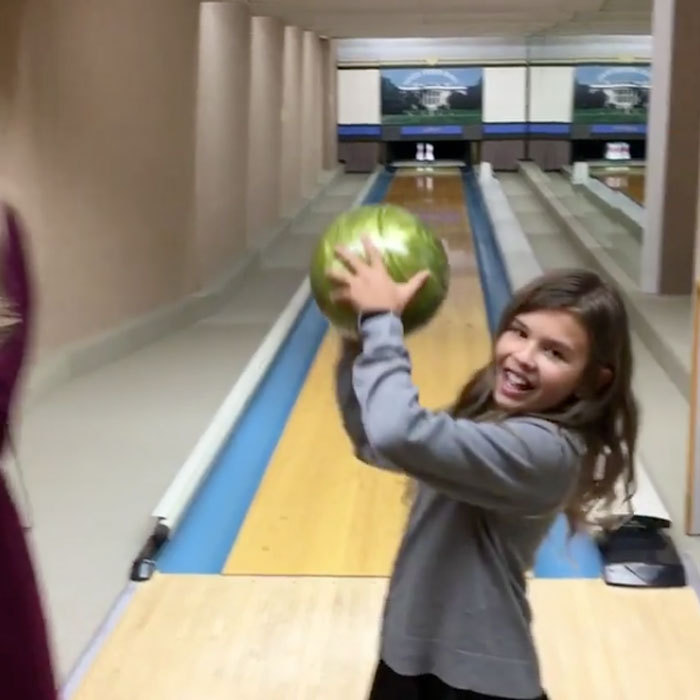 "Strike! Kai hit the lanes with her family at the White House including her mother, who opted for heels. ""Family bowling session at The White House. Vanessa doing pretty well considering she's still wearing high heels #inauguration #trump45 #usa #america #trump #whitehouse #bowling,"" Donald Jr. captioned the picture.