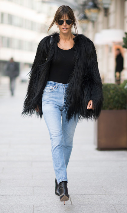 Victoria's Secret Angel Alessandra Ambrosio turned the streets of Paris into her personal runway.