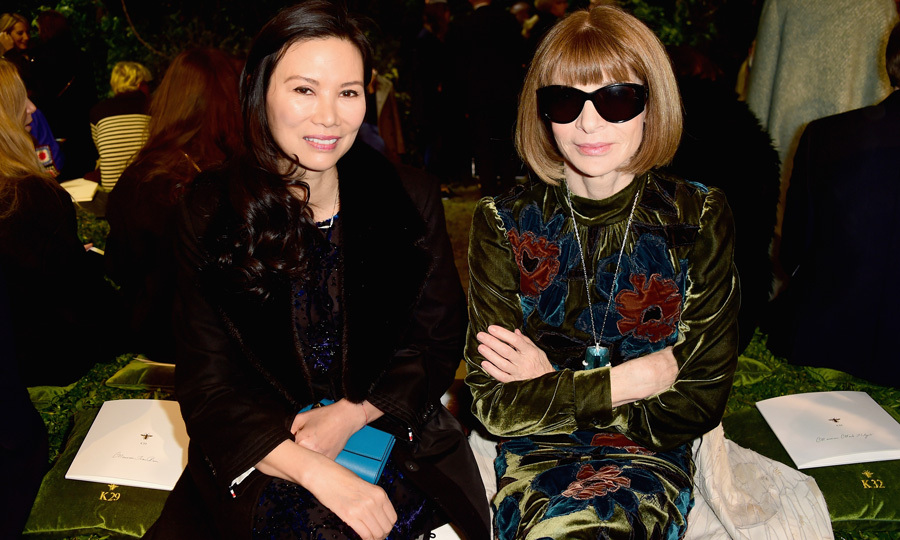 Wendi Murdock and Anna Wintour sat front row at the Christian Dior Haute Couture show held at the Musee Rodin.
