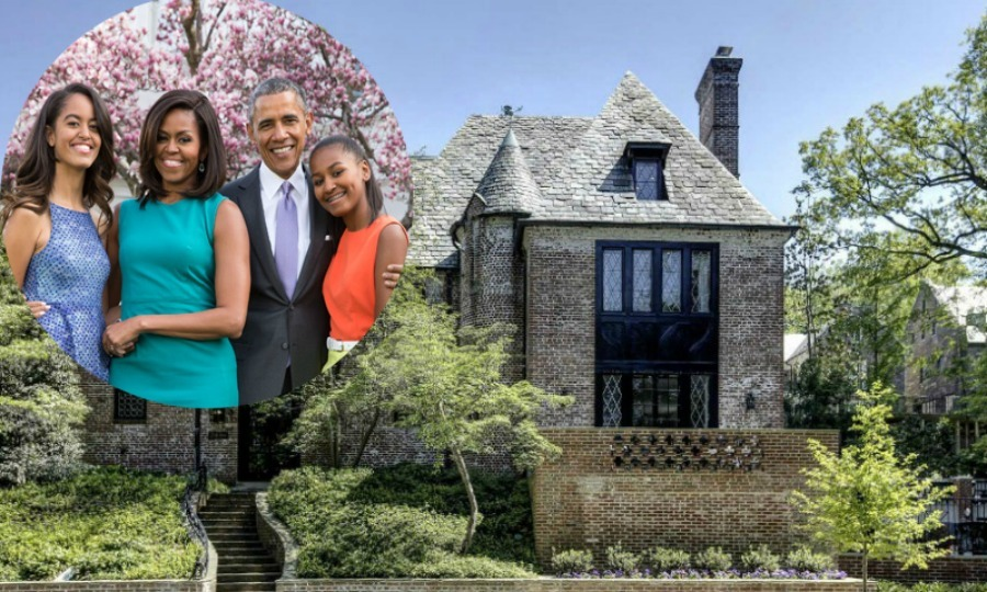 Barack, Michelle, Sasha and Malia Obama may have moved out of the White House, but they won't be far away. The former first family will move into a 8,200 square foot home in the neighborhood of Kalorama. Here is a look inside the Obamas' new digs, which is currently being renovated to fit their post-presidential style. 
