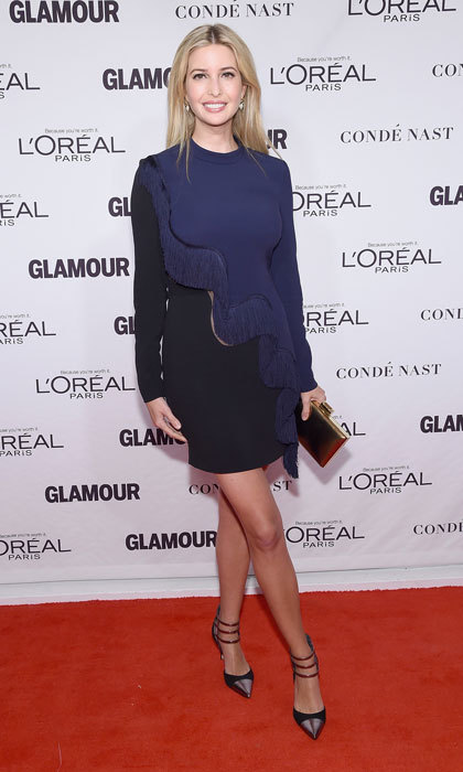 President Trrump's daughter opted for an edgy fringe number at the Glamour 2014 Women of the Year Awards at New York's Carnegie Hall.