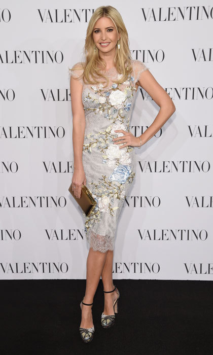 Ivanka wowed in a floral printed number at the 2014 Valentino Sala Bianca 945 Event in New York City. 