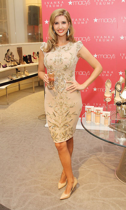 Ivanka Trump donned an elegant, embellished number for the 2013 Ivanka Trump Fragrance Launch at Macy's Herald Square in New York City. 