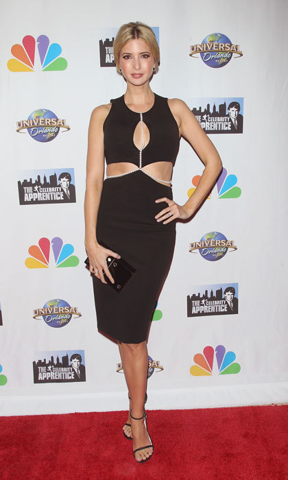 The mom-of-three looked sultry in a cut-out black dress for the 2015 <i>Celebrity Apprentice</i> season finale event in New York City. 