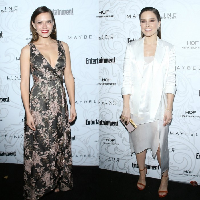 January 28: <i>One Tree Hill</i> reunion! Bethany Joy Lenz and Sophia Bush looked stunning as they hit Entertainment Weekly's black carpet at Chateau Marmont. 