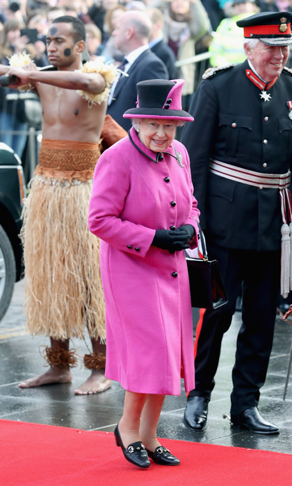 Queen Elizabeth II paid a visit to the Fiji Exhibition at the Sainsbury Centre at the University of East Anglia in Norwich, England. 