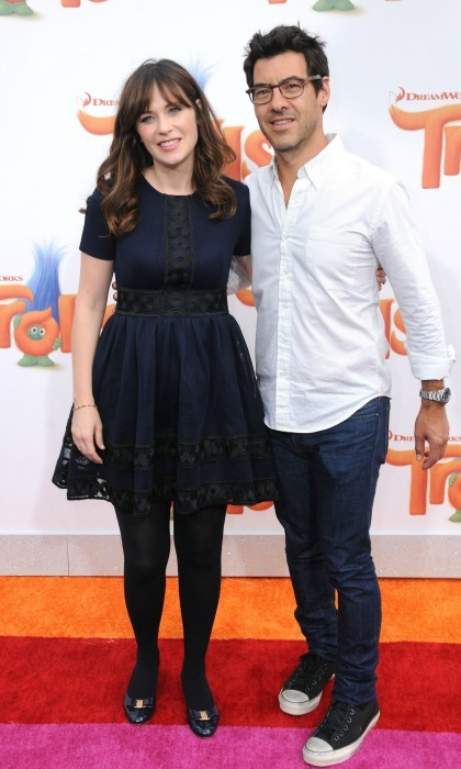 <b>Zooey Deschanel and Jacob Pechenik</b>