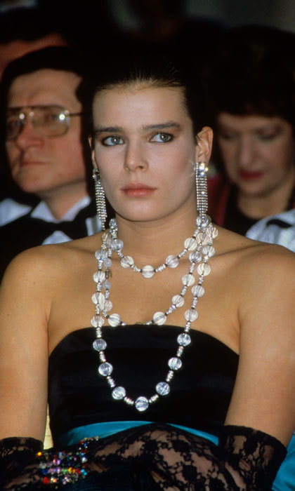 The royal took statement jewelry to a new level for her 1986 visit to London's Harrods department store.