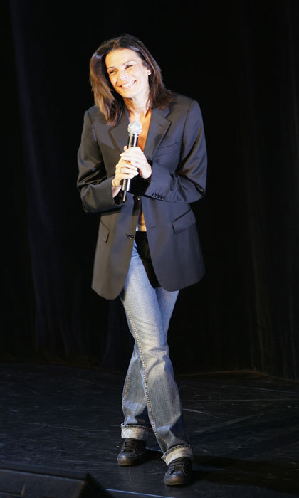 Stephanie kept it casual wearing an over-sized blazer and blue jeans to the 2008 Fight Aids Monaco Gala Tribute to Serge Gainsbourg in Monte Carlo.
