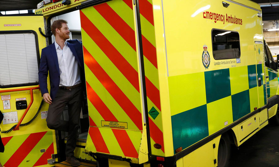 In case of emergency call Prince Harry! As part of his  Heads Together campaign, the British royal toured an ambulance during his visit to the London Ambulance Service to kick off the 2017 Time to Talk Day.