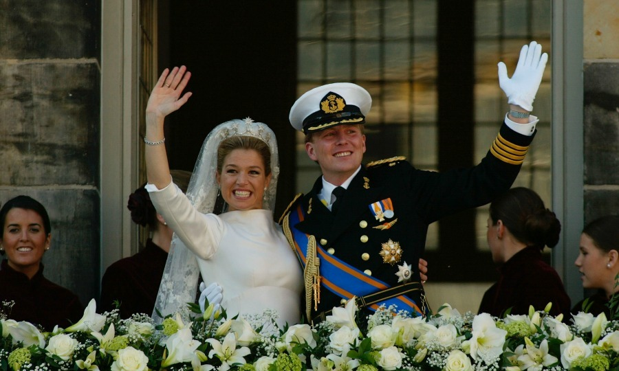 A little under a year after Queen Beatrix announced their official engagement, Prince Willem-Alexander, Prince of Orange and Máxima Zorreguieta made their love official on February 2, 2002. Fifteen years later, we take a look at Maxima and Willem-Alexander's big day. 