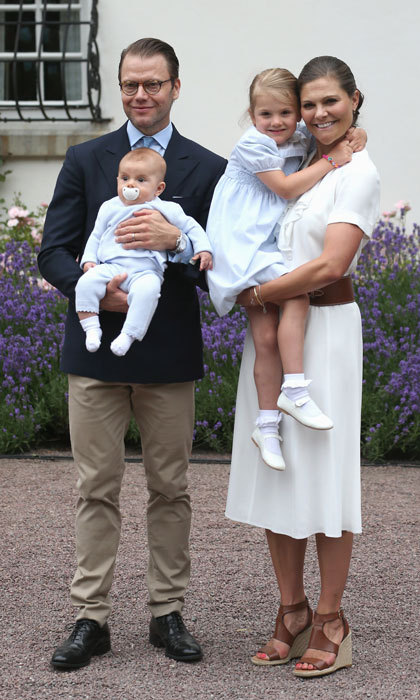 The Crown Princess family were the picture of happiness celebrating Crown Princess Victoria's 39th birthday at Solliden Palace in Oland, Sweden.