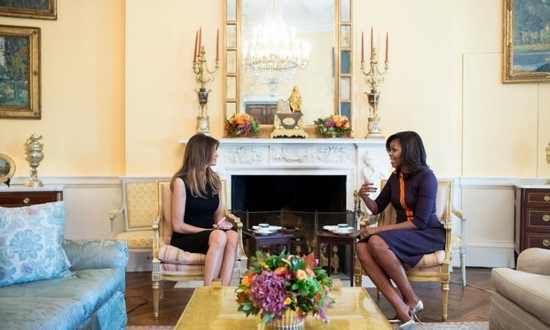 Like Michelle Obama, Who Redecorated The White House, Melania Trump Has  Hired An Interior Decorator Photo: Ron Sachs/CNP Via ZUMA Wire