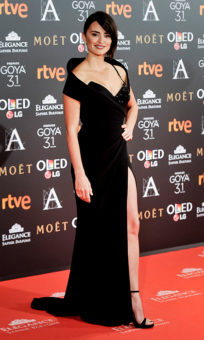 February 5: Penelope Cruz was a stunning señorita on the red carpet of the Goyas – Spain's version of the Oscars – in Madrid.