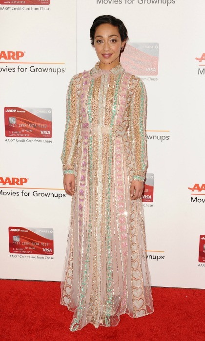 February 6: Ruth Negga stood out in Valentino during the AARP's 16th annual Movies For Grownups in Beverly Hills. 