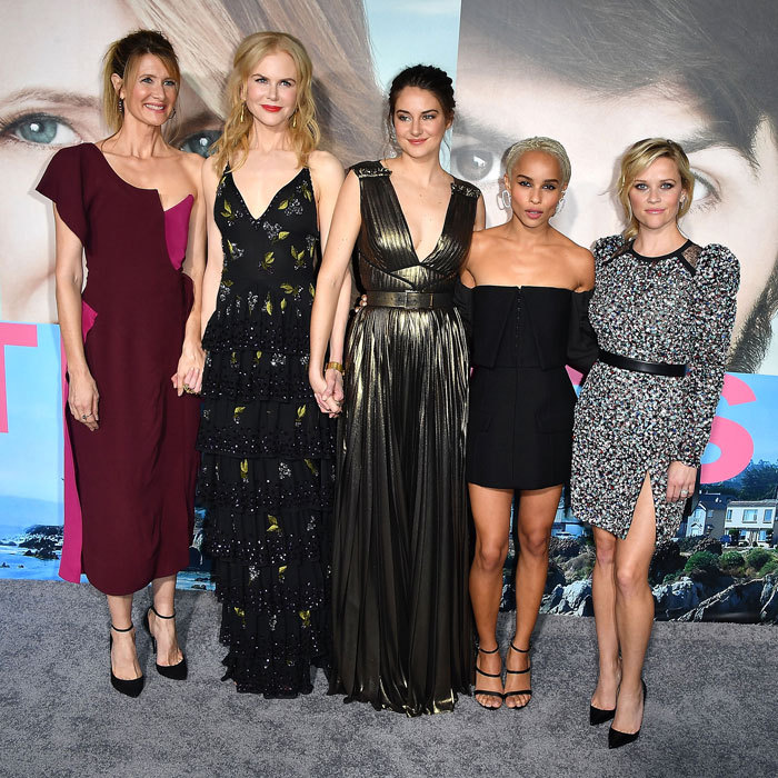February 7: The cast of HBO's <I>Big Little Lies</i>,  Laura Dern, Nicole Kidman, Shailene Woodley, Zoe Kravitz and Reese Witherspoon, brought the glamour to the series' Hollywood premiere.