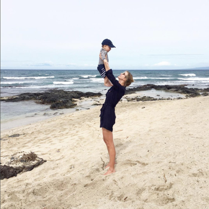 "Donald Trump's daughter enjoyed one-on-one time with her little ""beach buddy,"" son Theo.