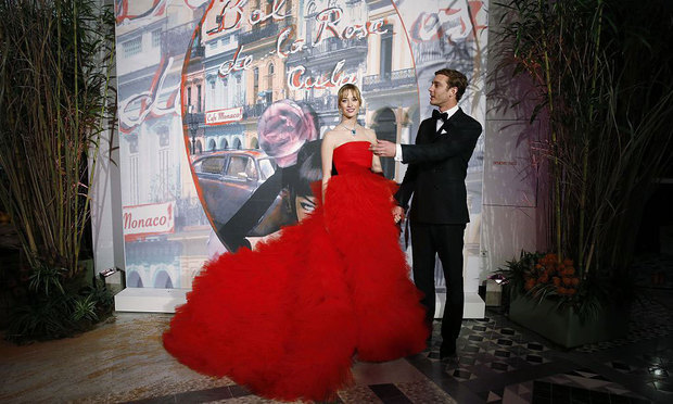 Beatrice Borromeo turned heads at the 2016 Rose Ball donning an extravagant strapless Giambattista Valli ball gown that featured a voluminous, ruffled tulle skirt.