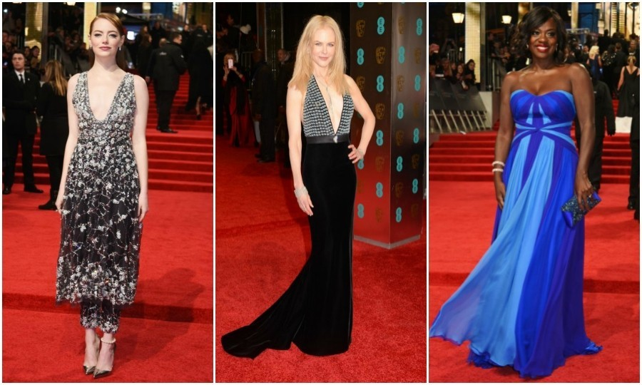 At the 2017 BAFTAs, Britain's most glamorous night of the year, the stars did not fail to dazzle. Taking place at the Royal Albert Hall, the red carpet lit up with a slew of famous (and royal) faces in designer dresses.