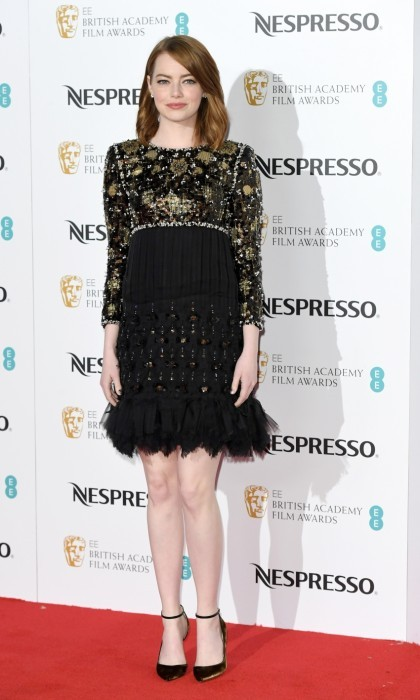 February11: Emma Stone also stepped out for the BAFTA nominees party. 