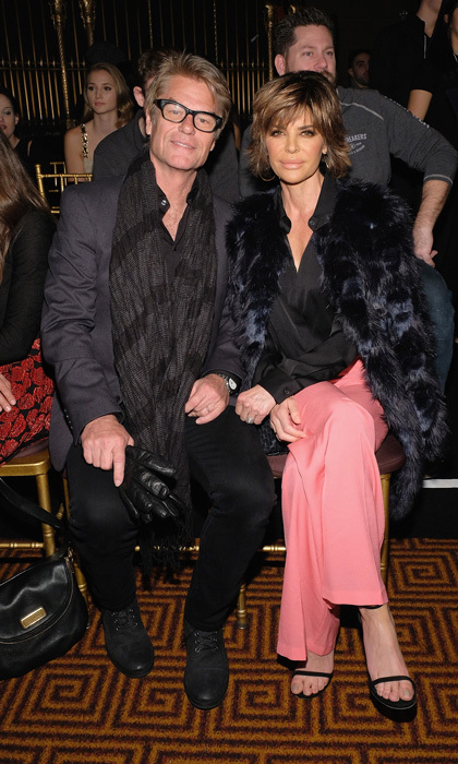 Harry Hamlin and Lisa Rinna sat front row at the Sherri Hill NYFW Fall 2017 show, where they proudly watched their daughter Delilah walk the runway.
