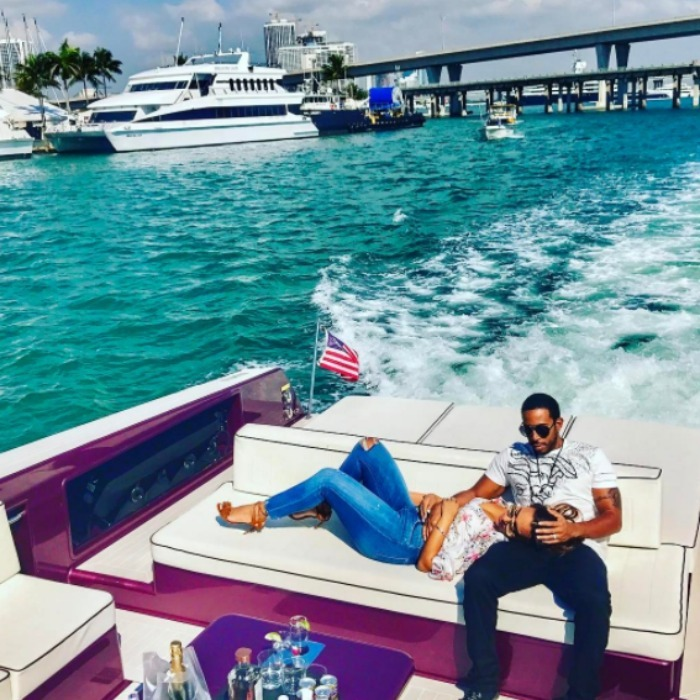 Ludacris treated his wife to some sunshine in Miami for the day of love. 