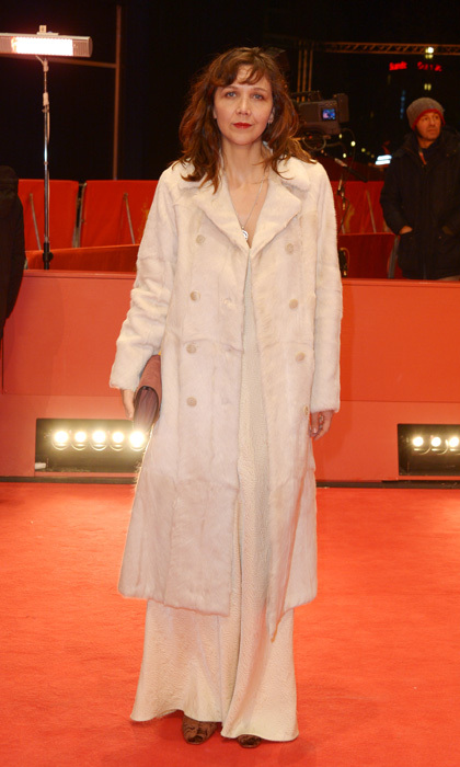 Maggie Gyllenhaal stepped out in an all-white ensemble by Prada for the <i>Beuys</i> premiere during the 67th Berlinale International Film Festival in Berlin.
